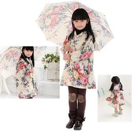 Beaux Imperméables Pas Cher-2017 Fashion Girls Raincoat Corée Lovely Big Flower Child Enfant Enfants Raincoat Poncho Raincoat Baby Outwear Vêtements