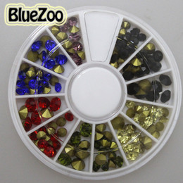Discount nail art discs 2017 nail art stamping discs on sale at 2017 nail art discs wholesale bluezoo 4mm mixed colors cone style rhinestones nail art decoration prinsesfo Images