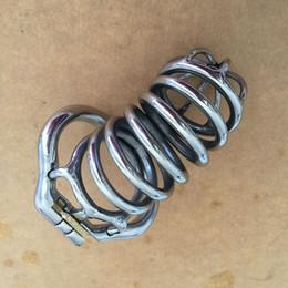Vente en gros Nouveau design de l'anneau élastique à cage longue pour homme 105mm Ceintures de chasteté en acier inoxydable pour hommes avec chasteté 4 tailles (38mm / 41mm / 51mm / 57mm)