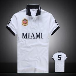 Venta al por mayor de Descuento PoloShirt hombres manga corta camiseta marca Miami Nueva York Chicago Los Angeles Dubai polo hombres baratos de alta calidad envío gratis