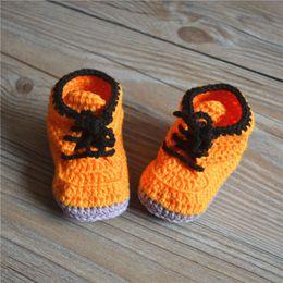 Baby Booties Canvas Canada - High quality baby crochet sneakers shoes shoe booties,Handmade sneaker shoe sandals prewalker for infants toddlers kids