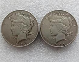 two face coin UK - High quality Batman Dark Knight Harvey's 1922 Peace Dollar Two Face Coin Co Promotion Cheap Factory Price nice home Accessories Silver Coins