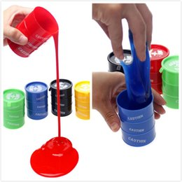 Oil Barrel Drum Canada - DHL Novelty children adult toy oil drums trick paint barrel slime April fools day Halloween gag tricky toys free shipping JC69