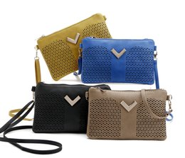 Wholesale Cashmere Knit Fabric Canada - New 2017 Patent Leather Hollow Out Women Messenger Bags Ladies Crossbody Bags For Women Casual Clutch Shoulder Bag Dollar Price