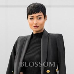 $enCountryForm.capitalKeyWord NZ - Rihanna Bob Hair Style wigs Short Human Cut hair Lace Front Wig For Black Women Human Short Hair Wigs for African Americans