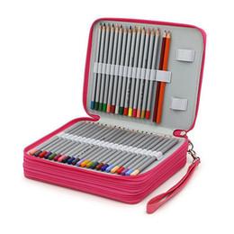 $enCountryForm.capitalKeyWord NZ - Wholesale-BEFRIEND School pencil case large capacity for art pens watercolor pencils PU leather 124 holders 4 layer School office supplies