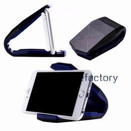 iphone car sticky mount 2019 - Adjustable Crocodile Clip Universal Car Mount Stand Holder Sticky Fixed Desk Bracket Mount Holder For iphone 7 Samsung S