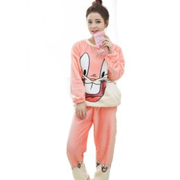 Women Sleepwear Winter Pajamas For Women Warm Coral Fleece Plus Size Pink  Pyjama Suit Nightwear 2 Pieces Pajama Set For Ladies 0c84e0a11
