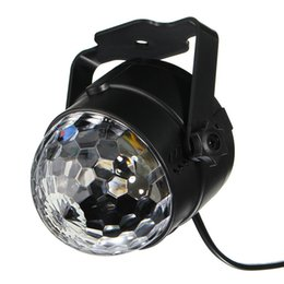 Crystal Ball Party Light Disco Strobe Lighting Rotating Lamp 5W RGBWP LED Sound Activated DJ Karaoke Stage Lights Kids Birthday Gift