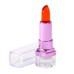 Venta al por mayor de Larga duración brillo de labios labios hidratantes Cuidado Sexy Jelly Lipstick Magic Color cambio de temperatura Comestic