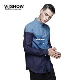 $enCountryForm.capitalKeyWord Canada - Wholesale- VIISHOW Brand NEW MEN CLOTHES mens dress shirt slim fit long sleeve men shirts camisa social masculina slim fit denim shirt men