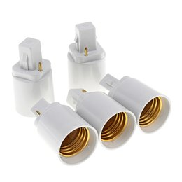 Chinese  5pcs G24 to E27 Bulb Base Adapter LED Lamp Socket Holder Universal Light Converter with 2 Pin LED_81K manufacturers