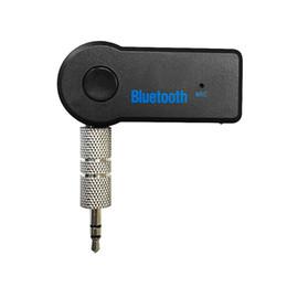 Atacado-Detalhes estilo do carro cerca de 3,5 mm sem fio Bluetooth AUX Áudio Stereo Music Início Car Receiver Adaptador de Microfone Últimas estilos @ # 117 venda por atacado