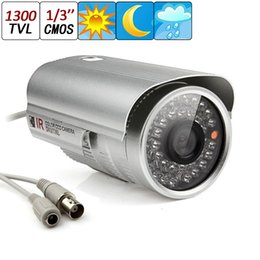 Cctv Camera 3.6mm NZ - 1300TVL 1 3 CMOS CCTV Surveillance Home Security Waterproof Outdoor 6mm Len Day & Night 36 IR LEDs Camera CCT_158