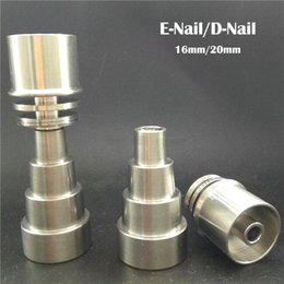 Discount male enail nail - 6in1 Domeless Titanium Nails With Male and Female Joint 10mm&14mm&19mm Gr2 Titanium Nail For 16mm Or 20mm Enail Coil Fre