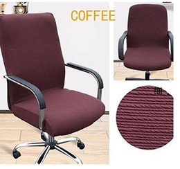 office chair fabric cover. office slipcovers cloth chair pads removable cover stretch cushion resilient fabric coffee