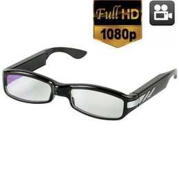 Wholesale Full HD eyewear Camera V12 P glasses DVR pinhole camera Audio VOICE Video Recorder Glasses mini Camcorder with retail box