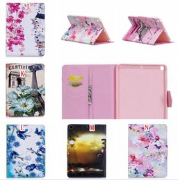 "pro tablets NZ - For Ipad Pro 10.5"" 2017 Ipad Pro 9.7"" Tablet Sleep Leather Pouch Case Flower Stand Card Cover Cartoon Totoro Cat Girl Bear Butterfly 20pcs"
