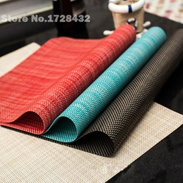 wholesale new practical pvc table mat with woven design plastic colourful placemats cup coaster kitchen dining table mat w7 47 c0019. beautiful ideas. Home Design Ideas