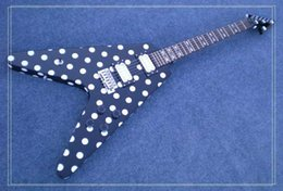 Guitar Custom Shop Black NZ - new Custom Shop RX10D Black White Polka Dot Electric Guitar Free Shipping