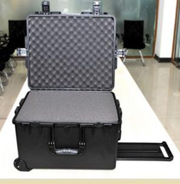 Wholesale Plastic Camera Cases NZ - trolley Tool case toolbox waterproof safety equipment case camera box Plastic sealed case tool box with pre-cut foam lining 624*498*353mm