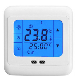 Programmable thermostat heating online shopping - Freeshipping Thermoregulator Touch Screen Heating Thermostat for Warm Floor Heating System Thermostat Weekly Programmable with backlight