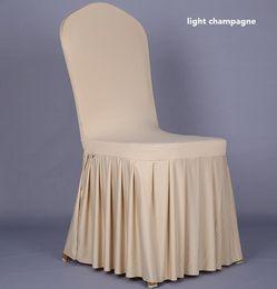 $enCountryForm.capitalKeyWord Australia - Wedding Banquet Chair cover High Quality Chair skirt Protector Slipcover Decor Pleated Skirt Style Chair Covers Elastic Spandex WT056