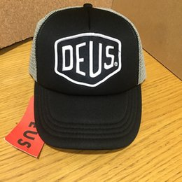 motorcycle ball caps NZ - Hot Sale Deus Ex Machina Baylands Trucker snapback Cap black MOTORCYCLES mesh baseball hat sport palace drake 6 panel hip hop god cap hat