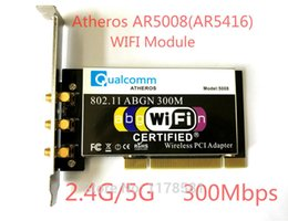 $enCountryForm.capitalKeyWord Canada - Wholesale- Atheros AR5008 AR5416 Dual Band 802.11a b g n WIFI CARD PCI Module 300Mbps Wireless Card For Desktop+3 Pcs Antenna