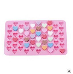 55 heart silicone mold UK - 55 Cavity Mini Heart Silicone Pralines Mold Baking Ice Cubes Chocolate Confectionery Truffles DIY Kitchen Tools Chocolate Mold 505