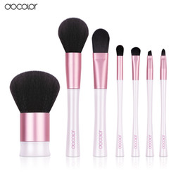 nice makeup bags Canada - 7pcs High Quality Make Up Tools Kit Pink and White Makeup Brushes with Bag and Nice Gift Box Professional Makeup Brush Set