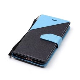 $enCountryForm.capitalKeyWord UK - Hit Color Contrast Bling Sand Grain Wallet Leather Pouch Case For Iphone 7 I7 Plus Iphone7 6 6S SE 5 5S Matte Strap Stand Card Cover Fashion