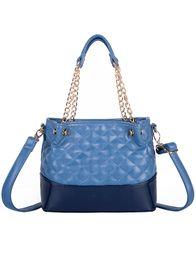 $enCountryForm.capitalKeyWord Canada - New designer Diamond Lattice chain soft material women single shoulder messenger handbag lady fashion evening purse black blue white color
