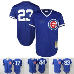 7c65be179 ... 17 Kris Bryant jersey Mitchell Ness 23 Ryne Sandberg Chicago Cubs 44  Anthony Rizzo Cooperstown Collection ...
