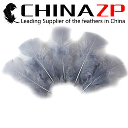 Led Costumes NZ - Leading Supplier CHINAZP Crafts Factory Cheap Wholesale Selected Top Quality Decoration Dyed Grey Turkey Flat Plumage Feathers