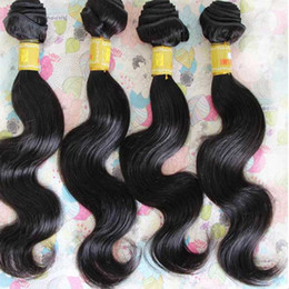 unprocessed human hair Canada - LUMMY Brazilian Body Wave Virgin Human Hair Weave Bundles Unprocessed Peruvian Malaysian Indian Hair Extensions Double Weft Natural Black