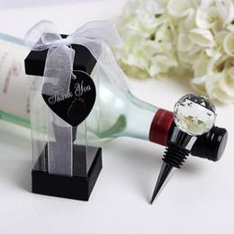 Bola de cristal rolha de garrafa de vinho liga de zinco de casamento nupcial do chuveiro favores presentes partido decoração presente para o hóspede + DHL frete grátis venda por atacado