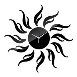 reloj pare 2019 - Wholesale- 2016 New Diy 3d Acrylic Mirror Clocatch Horloge Stickers Home Decoration Duvar Modern Free Shipping Wall Cloc