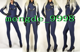 $enCountryForm.capitalKeyWord Canada - New Fantastic Four Costumes Dark Blue Lycra Spandex Fantastic Women 4# Suit Catsuit Costumes Sexy Superhero Suit Halloween Cosplay Suit M185