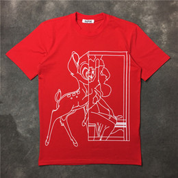 $enCountryForm.capitalKeyWord Canada - 2017 summer fashion brand Mens T-shirts Men Short Sleeve Casual tshirt Tee Tops Mens with Tshirts Red painting the deer printing Mens Cloth