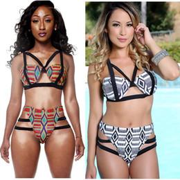 c2035222ffa47 Bikini 2017 Bathing Suit High Waist Swimsuit Bikinis Women African Print  Inspired Two Piece Swimwear Bandage Strappy Bikini Sets