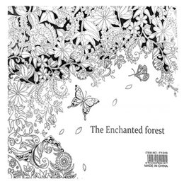 The Enchanted Forest Book Coloring For Adult Kid Painting Antistress Mandala Secret Garden Quiet Color Drawing 2525cm 24Pages