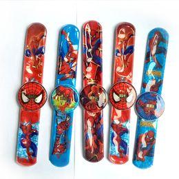 $enCountryForm.capitalKeyWord Canada - Selling 3D cartoon Marvel Spider Man series children watch Papa ring pat watch electronic watch