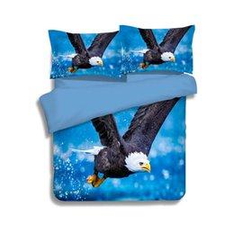 $enCountryForm.capitalKeyWord Australia - 3 Styles Blue Flying Eagle Printing Bedding Sets Twin Full Queen King Size Fabric Cotton Duvet Covers Set Pillow Shams Comforter Owl Animal