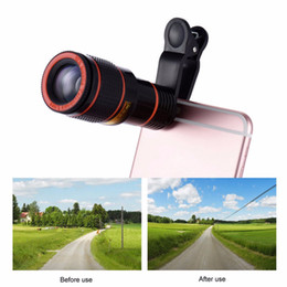 Mobile Telescope Canada - Clip-on 12x Optical Zoom HD Telescope Camera Lens For Universal Mobile Phone