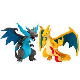 "Charizard Toy Doll UK - NEW 9"" 23 CM 2 Styles Mega Evolution XY Charizard Pikachu Plush Toys Soft Stuffed Doll Kids Gift"