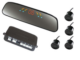 Probe Car UK - Big LED Car Parking Sensors PZ306 Car Crescent Beeper Reversing Radar Four Probes Numeral LED Digital Display Free EUB Epacket