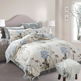 Full Sized Beds Australia - Wholesale-UNIHome textile,Reactive Print 3 4Pcs bedding sets luxury Duvet Cover Bed sheet Pillowcase,King Queen Full size