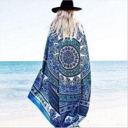 beach towel mandala tapestries tapestry boho spa wraps bikini cover up beachwear bath throw shawl rugs tablecloths polyester