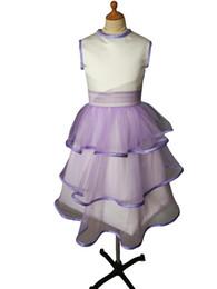 $enCountryForm.capitalKeyWord UK - 2019 Hot New First Communion Dresses For Girls Short Sleeve scoop flower Pearls White Flower Girl Dresses for Weddings